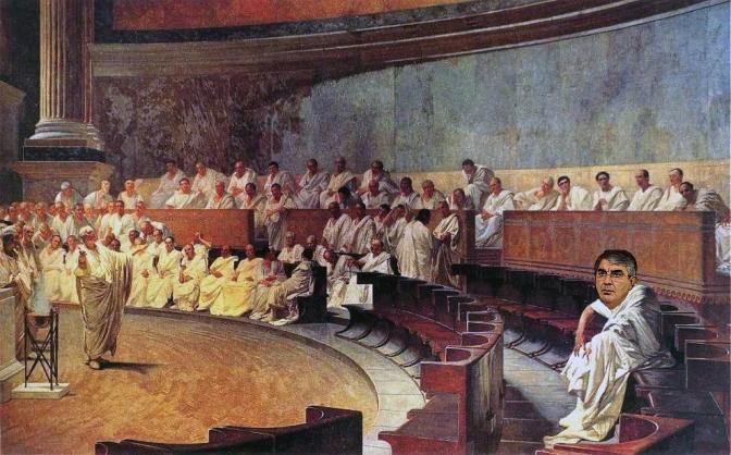 Pareidolìa a Palazzo Madama. Sull'affresco di Maccari compare D'Alfonso