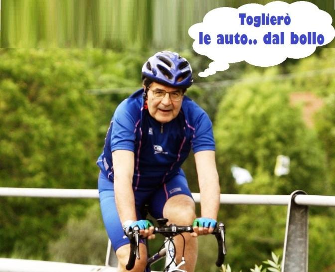 Insieme con la bicicletta di Prodi..